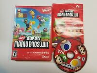 New Super Mario Bros. Wii  (Wii, 2009) Nintendo - Tested - FREE FAST SHIPPING