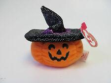 "NWT TY Halloweenie Beanie Babies 2007 - ""SCREAM"" Pumpkin - FREE SHIPPING!!!"