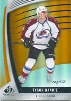 17/18 SP GAME-USED ORANGE #39 TYSON BARRIE 102/113 AVALANCHE *49536