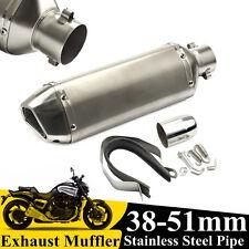 38-51mm Silencieux échappement Tuyaux Exhaust Muffler Pipe Pour Moto Scooter VTT