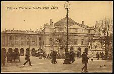 AX0113 Milano - Città - Piazza e Teatro alla Scala - Animata - Old postcard