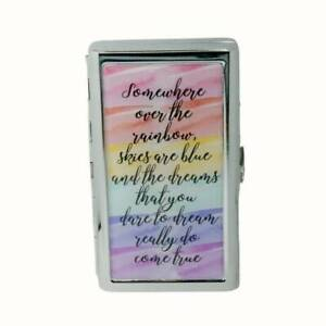 KING SIZE CIGARETTE CASE METAL MONEY CARD STORAGE SOMEWHERE OVER THE RAINBOW...