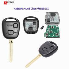 Remote Key Fob 2 Buttons 433MHz 4D68 Chip for Toyota RAV4 Prado Tarago P/N:50171
