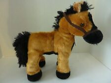 DanDee Animated Walking/Shakes makes neighing sounds Brown Plush Horse ~ tested
