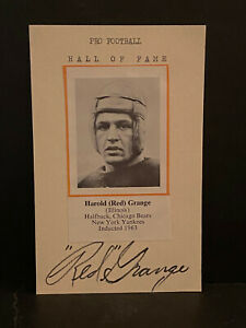 Signed Red Grange Photo Cut HOF AUTOGRAPH Chicago Bears CERTIFIED AUTO