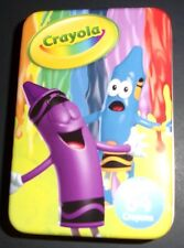 Crayola Crayon Storage Box Tin Container holds 64 no crayons sold empty colors