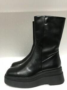 Vagabond Carla Black Leather Mid-Calf Boots size US9 EU39 UK6