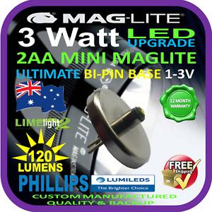 MAGLITE UPGRADE LED MINI AA 3W BULB GLOBE for FLASHLIGHT TORCH 1-3V 120+lm AU