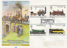 Gb :1975 Railway - Philart Fdc-Darlington'Ticke t'
