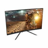 "VIOTEK GN24CB 24"" Curved Monitor Samsung VA Panel Speakers HD 1080p 144Hz Black"