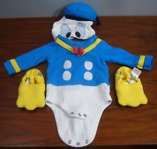 Disney Baby Size 0-3 Month Donald Duck Outfit Photoshoot Costume outfit w Bootie