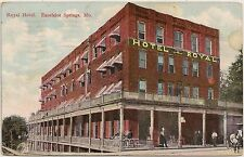 Royal Hotel in Excelsior Springs MO Postcard 1912