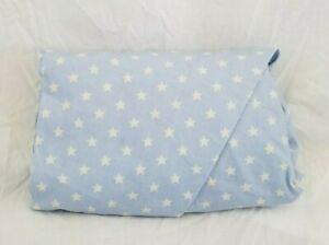 Kenneth Brown 100% Cotton Blue & White Stars Crib Fitted Sheet NIP