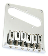 Genuine Fender Squier Affinity Telecaster/Tele 6-Saddle Guitar Bridge - CHROME