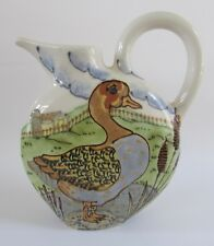 Rare Janet Rothwoman Large Duck Goose Pitcher