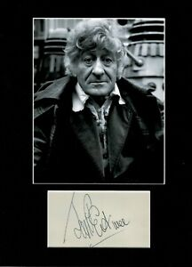 JON PERTWEE THE THIRD DR.WHO AUTHENTIC SIGNED LARGE AUTOGRAPH DISPLAY UACC