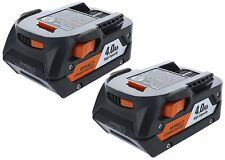 2 New Ridgid 18 Volt 4.0 Ah Lithium Ion Batteries Model # R840087