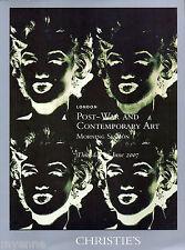 Christie's London, 21 June 2007 : Post-War and Contemporary Art 264 p. catalog