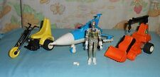 vintage Mego Micronauts CRATER CRUNCHER, SCOOTER, PHOTON SLED, TIME TRAVELER LOT