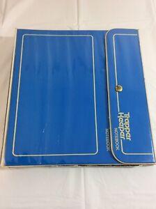 Vintage Trapper Keeper Blue 29096 Hook Loop 3 Ring Binder Blue Portfolio Folders