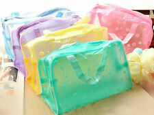 1X Travel Portable Makeup Bag Toiletry Bathing Transparent Pouch Waterproof New