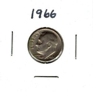 1966 P Roosevelt Dime .10 cents