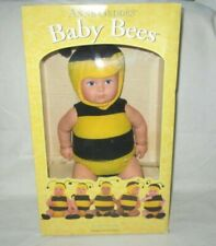 """Anne Geddes Baby Bees Doll 1998 15"""" Bumble Bee Black Yellow Brown Eyes Loc542"""