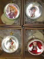 Thomas Pacconi Classics*Blown Glass Snowman Santa Clause Angel ball ornament