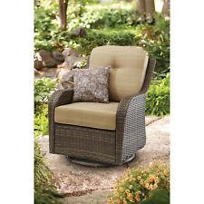 Glider Chair Outdoor Wicker Swivel Patio Sunroom Mckinley Crossing All-Motion