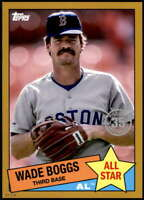Wade Boggs 2020 Topps 1985 35th Anniversary All-Stars 5x7 Gold #85AS-21 /10 Red