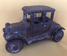 Antique Victorian Cast Iron Victorian Car Toy