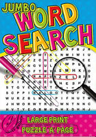 SUPER JUMBO WORD SEARCH BOOK-LARGE PRINT-WHITE PAPER-4047