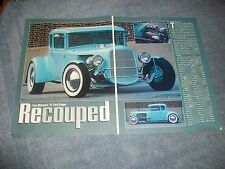 "1931 Ford Model A 5 Window Hot Rod Article ""Recouped"" East Coast Style"