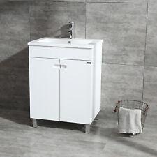 "Modern 24"" Single Bathroom Vanity Wood Cabinet With Undermount Resin Sink Faucet"