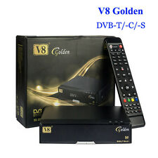 V8 Golden DVB-S2 + T2 + Cable HD Satellite TV Receiver Support USB WIFI Youtube
