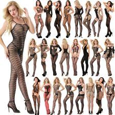 Erotic Ropa de dormir Bodysuit Sexy cuello halter Fishnet Lace Mujeres lenceria