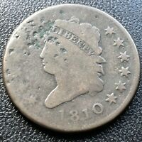 1810 Large Cent Classic Head One Cent 1c Rare Circulated #17697