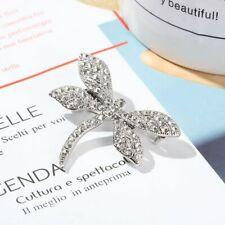 New listing Silver Fashion Style Dragonfly Woman Brooch Pin Clear Rhinestone Jewelry