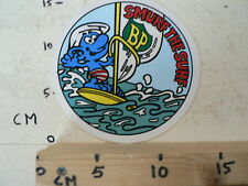 STICKER,DECAL BP SMURF THE SURF,SMURFS,SCHLUMPHE,LES SCHROUMPFS,PUFFI,PITUFOS B