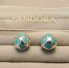 Authentic Pandora Sterling 925 ALE Light Blue Love You Enamel Hearts