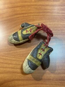 Vintage Leather Miniature Boxing Gloves Brown Red Tan Nice Antique Mini Gloves