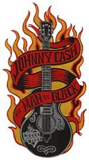 "US SELLER!!!   JOHNNY CASH - THE MAN IN BLACK  ~2.5"" x 4.25"" IRON ON PATCH~NEW!"