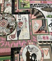 Ghastlie Love pink Halloween humor Alexander Henry  fabric