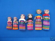 "12 assort 3"" 2"" 1"" Guatemalan Worry Dolls Trouble Doll"