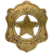BRAND NEW CHIEF OF POLICE  LAW ENFORCEMENT BADGE SOLID METAL MILITARY