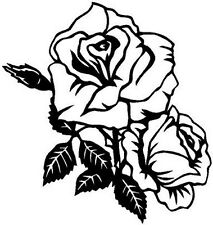 Roses Decor Decal Sticker Car Truck Boat Window