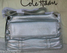 NWT Cole Haan  Crossbody  Argento Leather