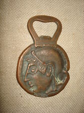 ANTIQUE COPPER BEER/BOTTLE OPENER  HECTOR TROJAN SOLDIER/OWL unique