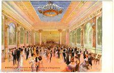 POSTCARD FRENCH MARSEILLE GRAND HOTEL RUSSIE & D'ANGLETERRE BALLROOOM