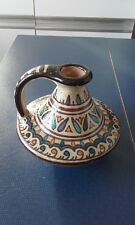 SUPERBE PICHET NABEUL FAIENCE SIGNEE CERAMIQUE POLYCHROME TUNISIE MAGHREB